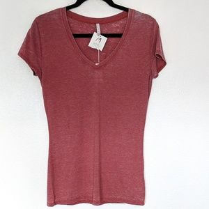 Z Supply The Perfect V Paperweight Tee Red